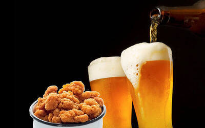 1-Hour Free-Flow Skol Beer with One (1) Chicken Popcorn for 1 Person