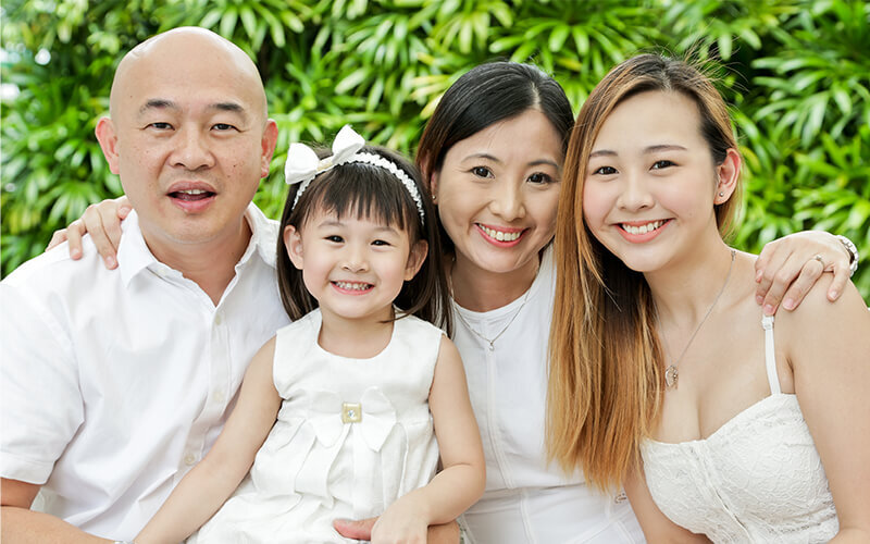1-Hour Outdoor Family Photoshoot for 4 People