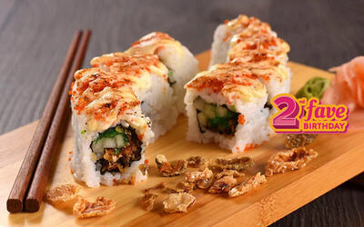 Buy 1 Salmon Tuna Salad Roll (8Pcs) Get 1 Salmon Skin Roll (8Pcs)