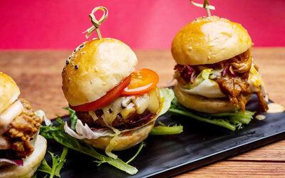 One (1) Burger Trio Platter