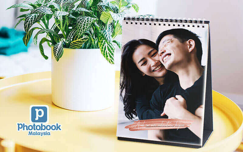 """Two (2) Identical Copies of 6"""" x 8"""" Personalised Desk Calendar"""