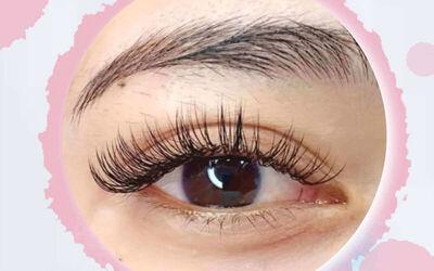 1x Classic Korean Lash + Mascara Looks + Dolly Eyes + Natural Kim K Eyelash Extension