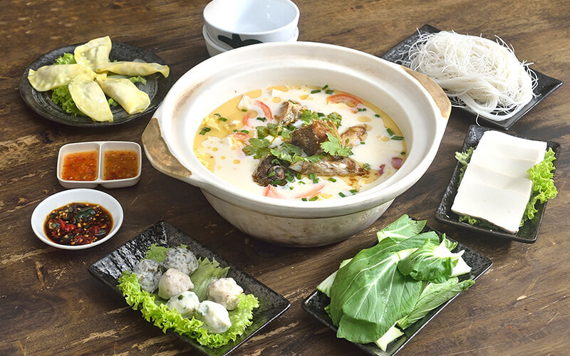 Grouper Fish Head Claypot Steamboat Set for 3 - 4 People