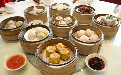 Dim Sum Buffet with 2 Bowls of Double Boiled Whole Abalone with Sea Cucumber and Fish Maw for 2 People