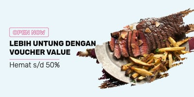 F&B Voucher Value - Hemat 50%