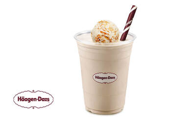 Häagen-Dazs: One (1) Peanut Ice Cream Shake (Mon-Fri)