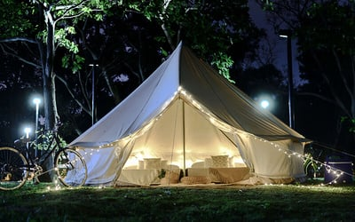 GLAMPINGCITY: 2D1N Stay at Couple Suite Tent for Up to 4 People