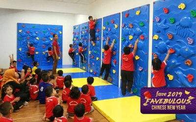 Access to Kids' Trampoline Park and Indoor Climbing for 2 People (Weekends & Public Holidays)
